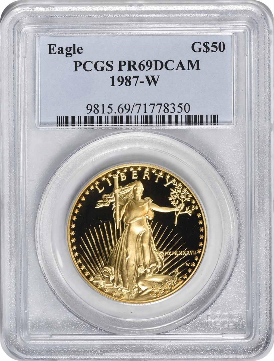 1987-W $50 American Gold Eagle PR69DCAM PCGS