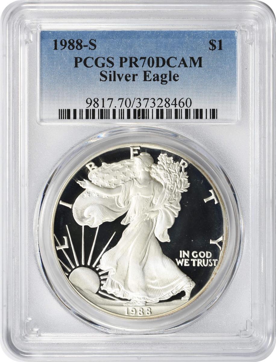 1988-S $1 American Silver Eagle PR70DCAM PCGS