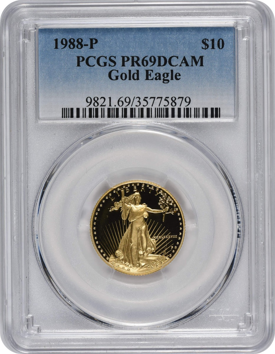 1988-P $10 American Gold Eagle PR69DCAM PCGS