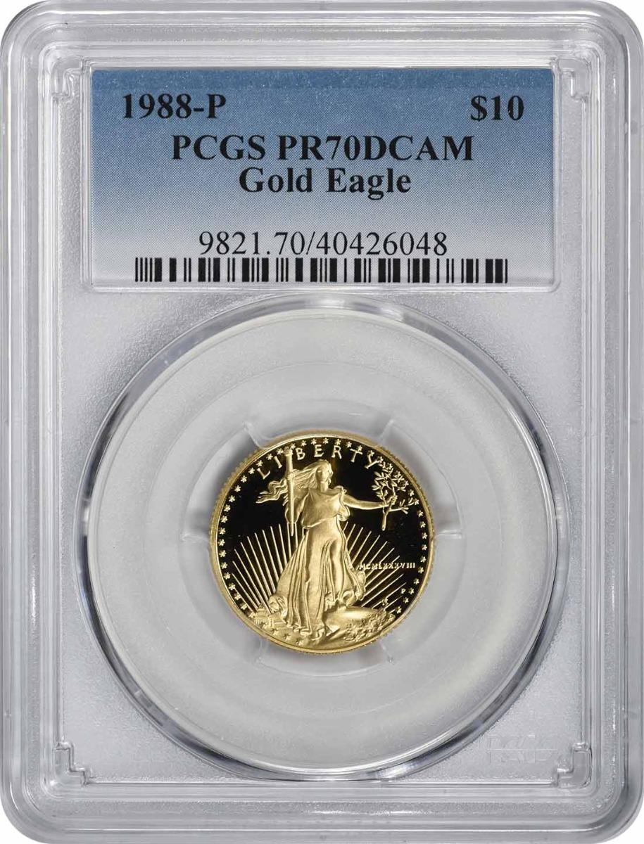 1988-P $10 American Gold Eagle PR70DCAM PCGS