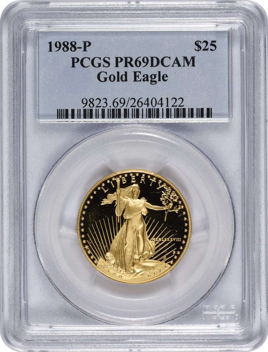 1988-P $25 American Gold Eagle PR69DCAM PCGS