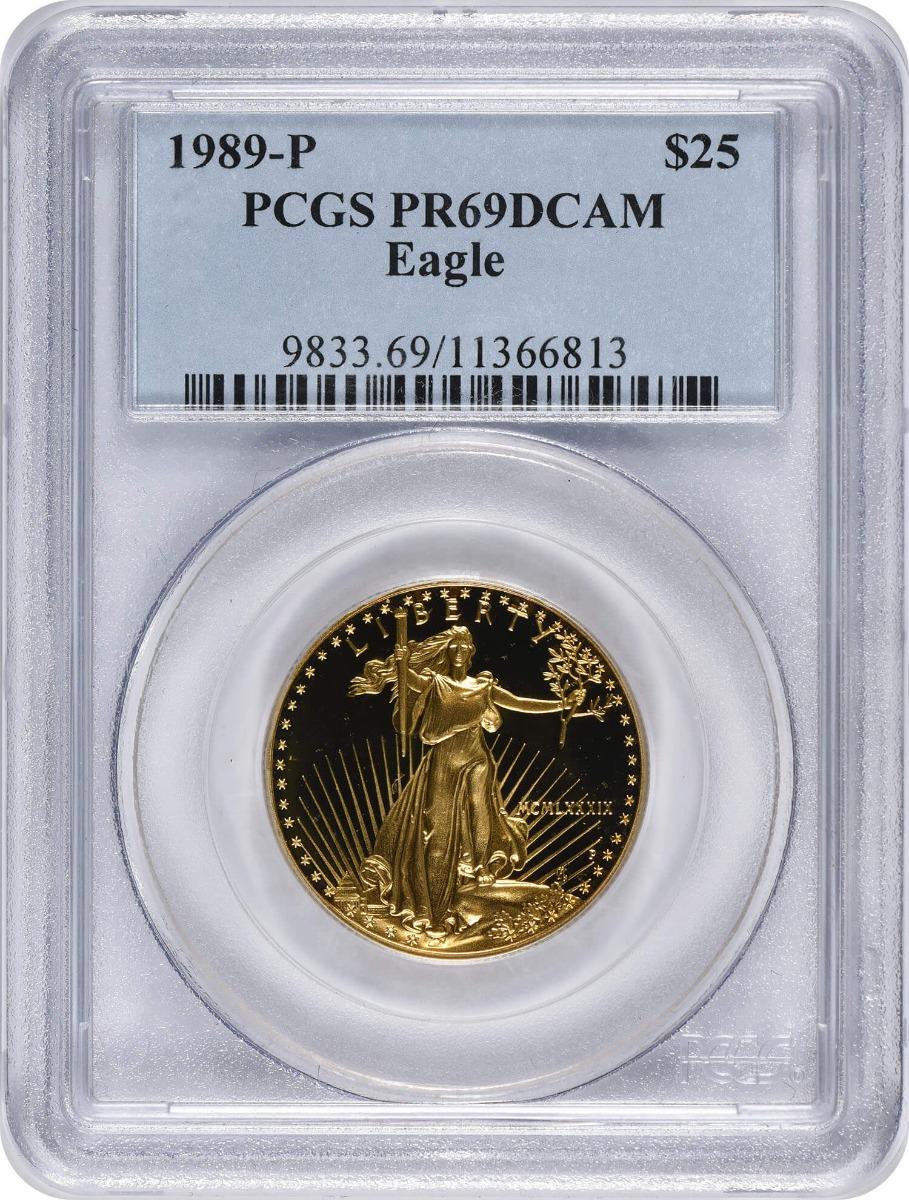 1989-P $25 American Gold Eagle PR69DCAM PCGS