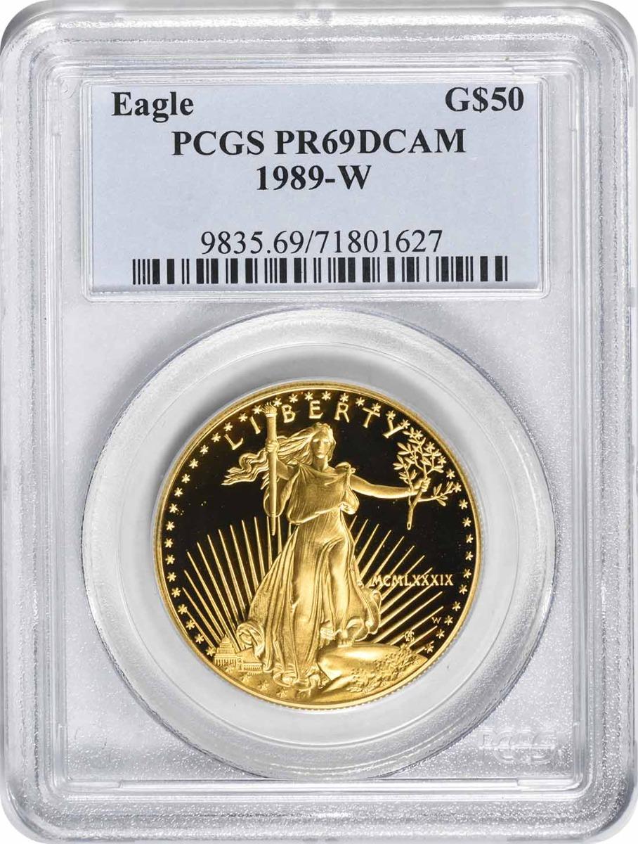 1989-W $50 American Gold Eagle PR69DCAM PCGS