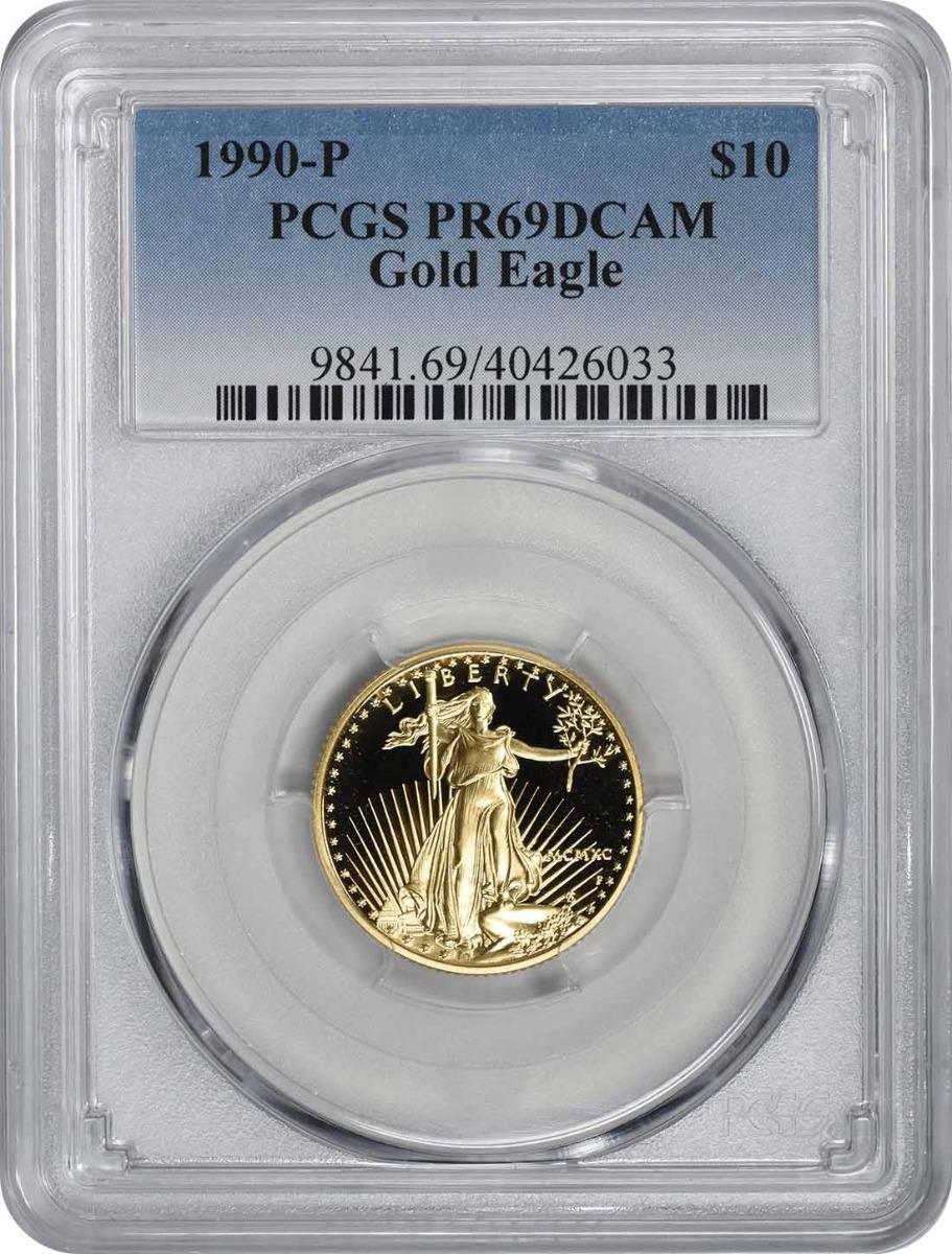 1990-P $10 American Gold Eagle PR69DCAM PCGS