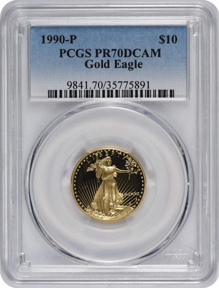 1990-P $10 American Gold Eagle PR70DCAM PCGS