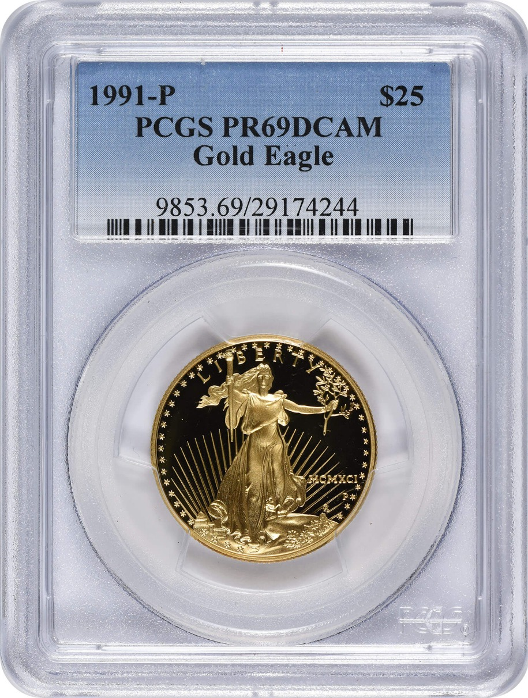 1991-P $25 American Gold Eagle PR69DCAM PCGS