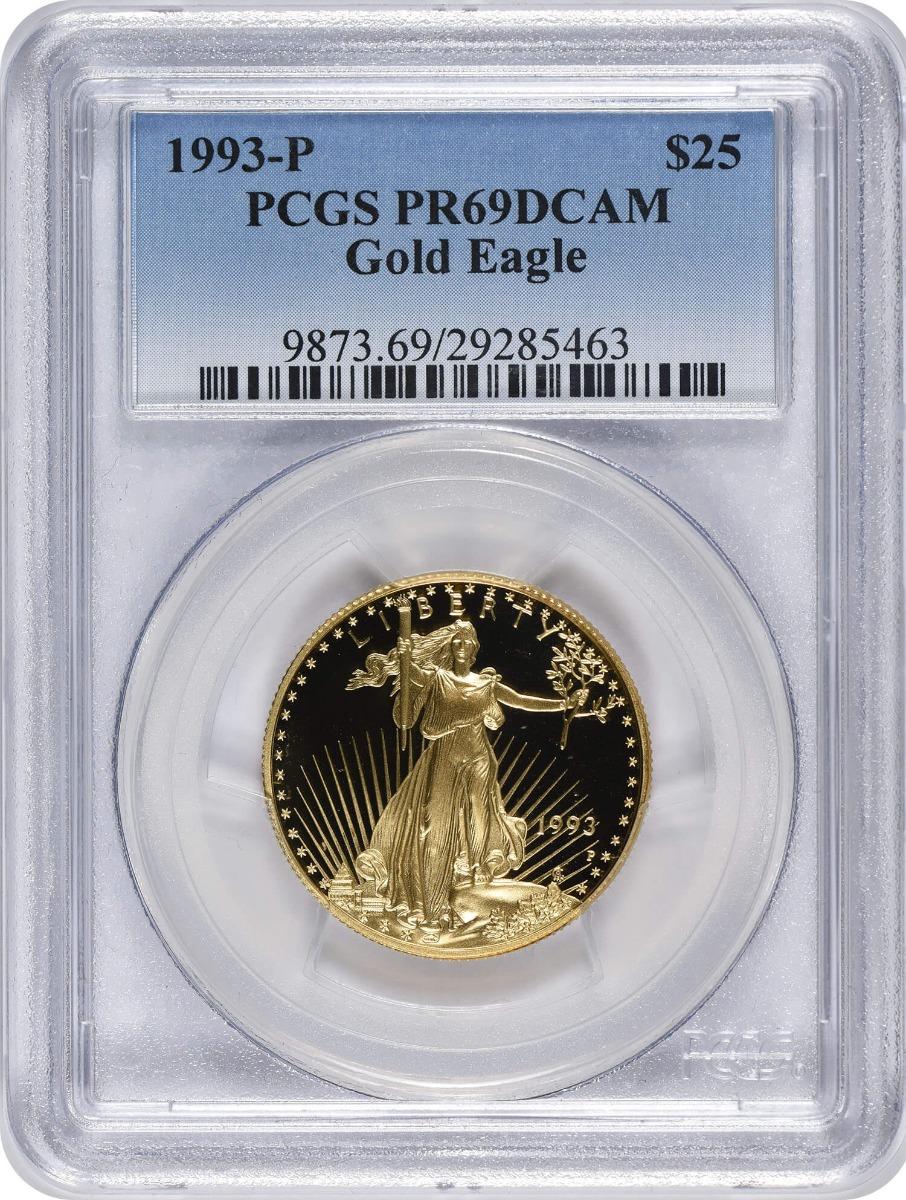 1993-P $25 American Gold Eagle PR69DCAM PCGS