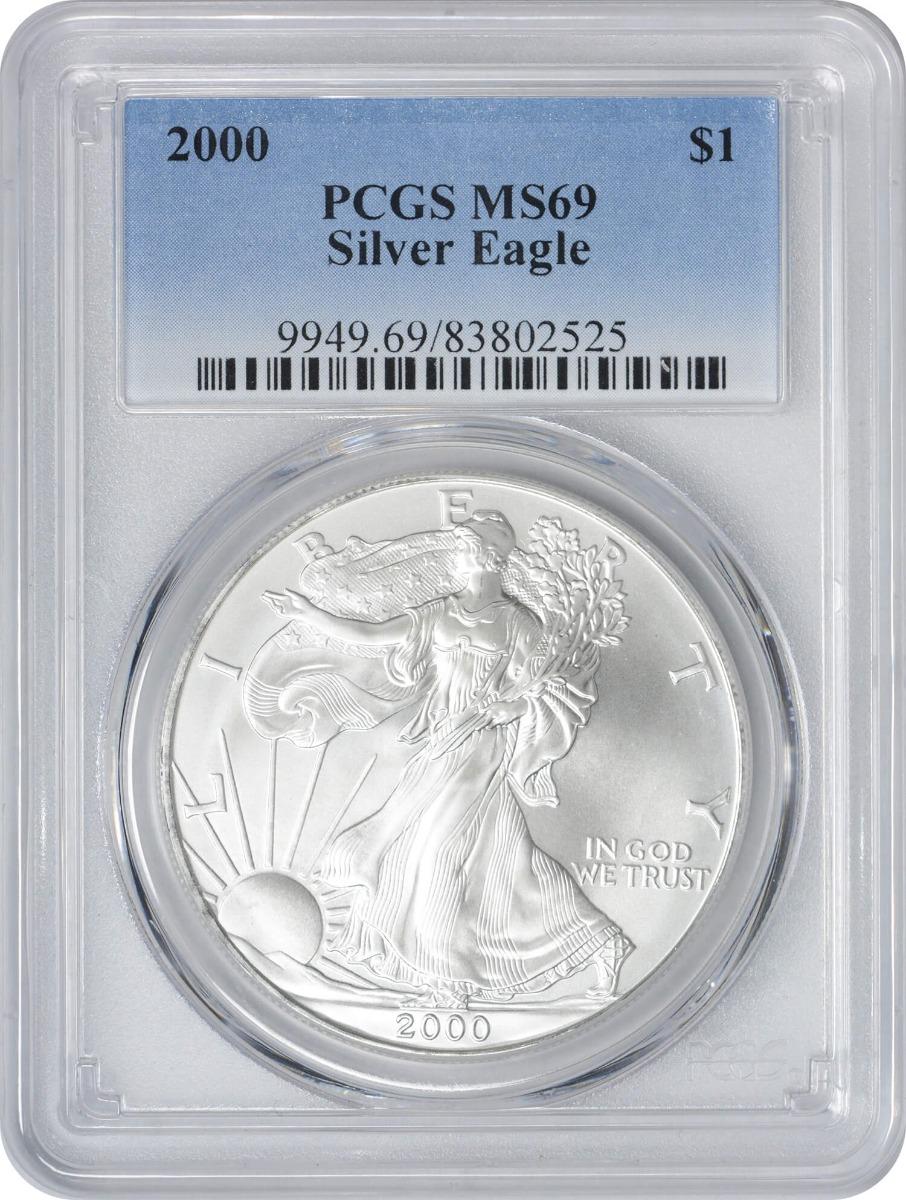 2000 $1 American Silver Eagle MS69 PCGS