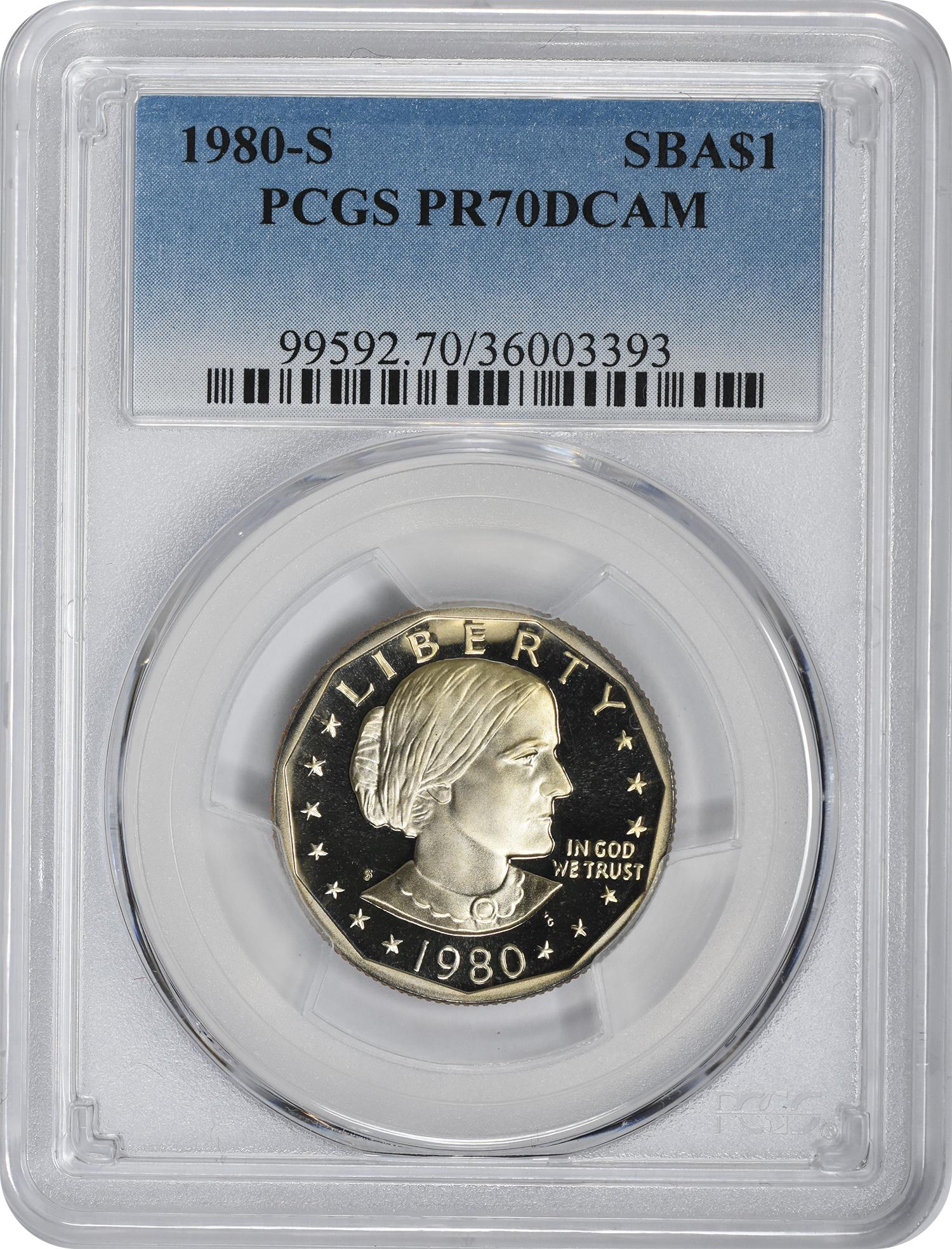1980-S Susan B. Anthony Dollar PR70DCAM PCGS