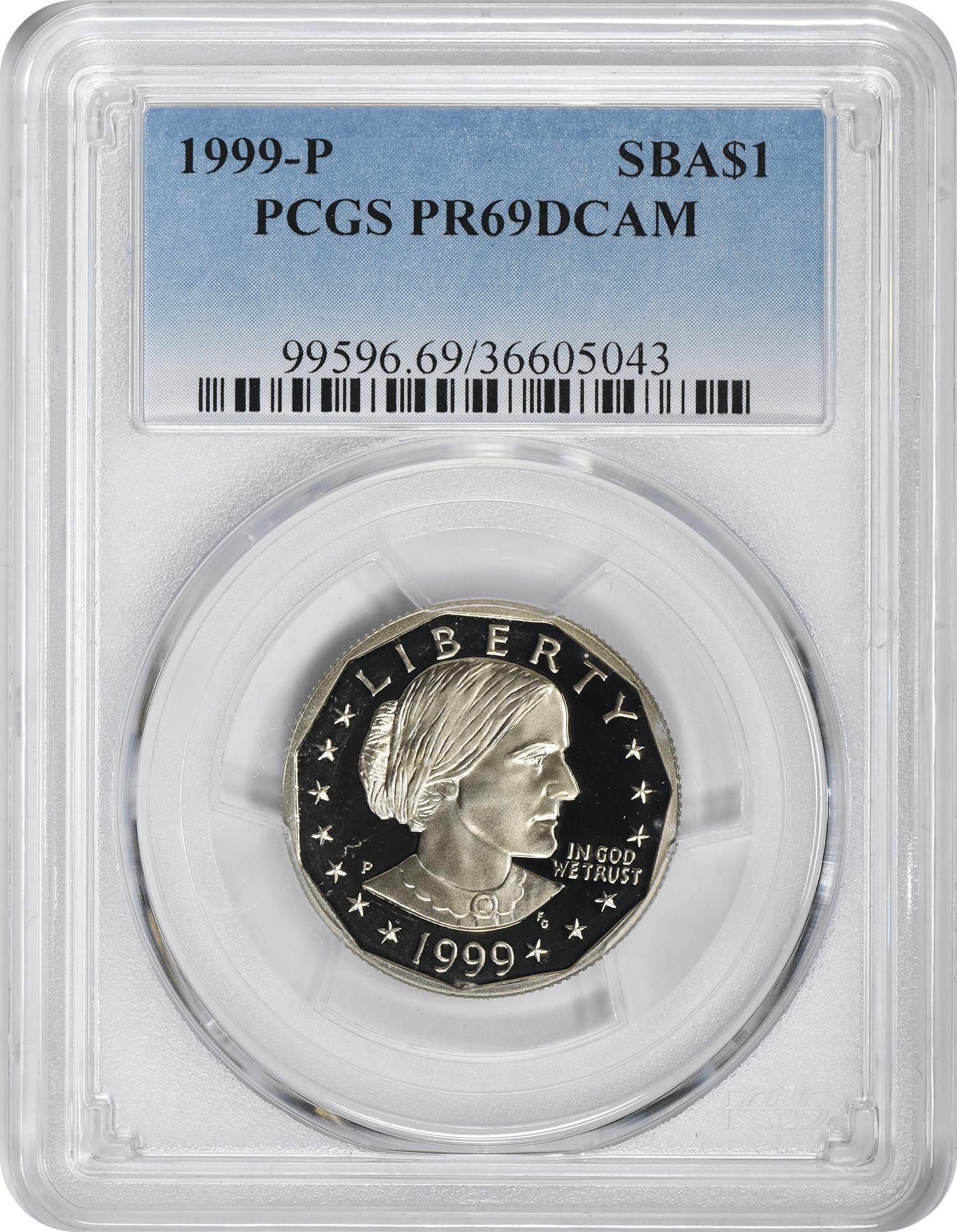 1999-P Susan B. Anthony Dollar PR69DCAM PCGS