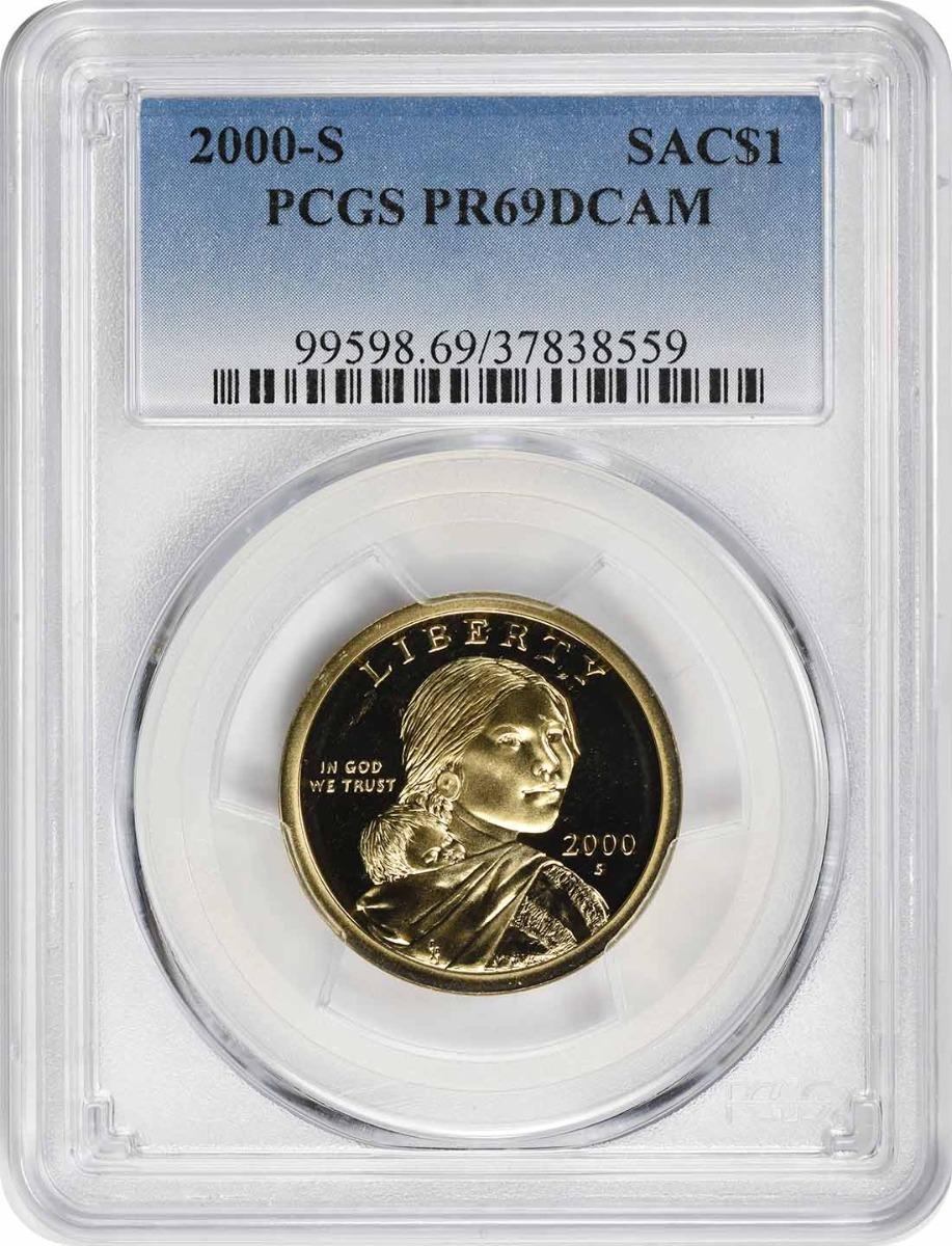2000-S Sacagawea Dollar, PR69DCAM, PCGS