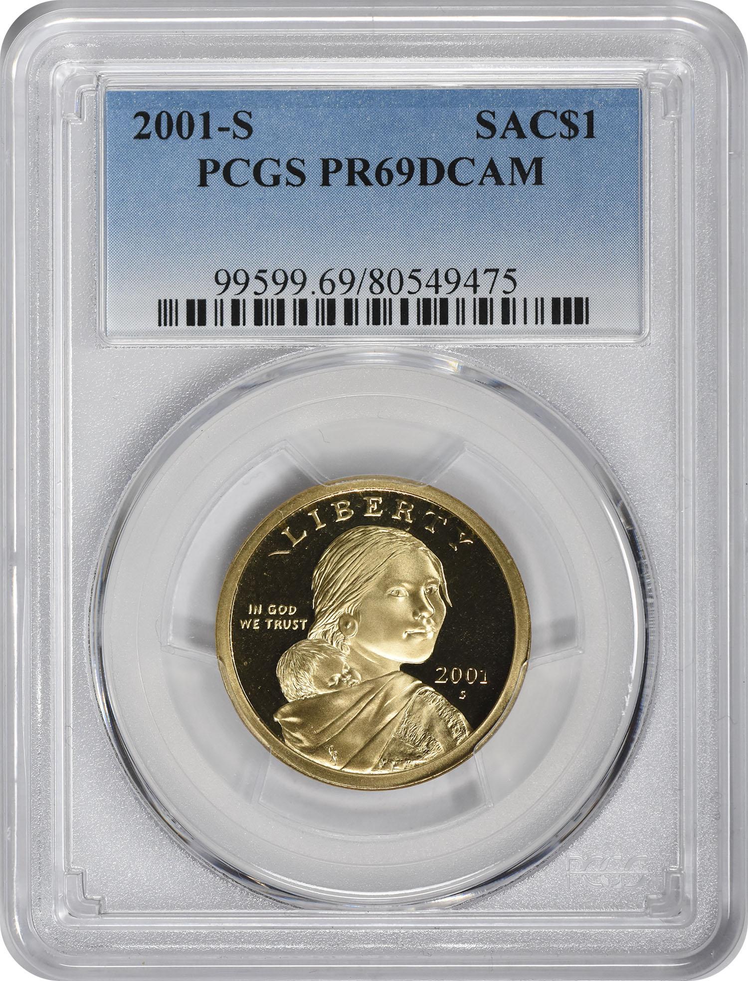 2001-S Sacagawea Dollar PR69DCAM PCGS