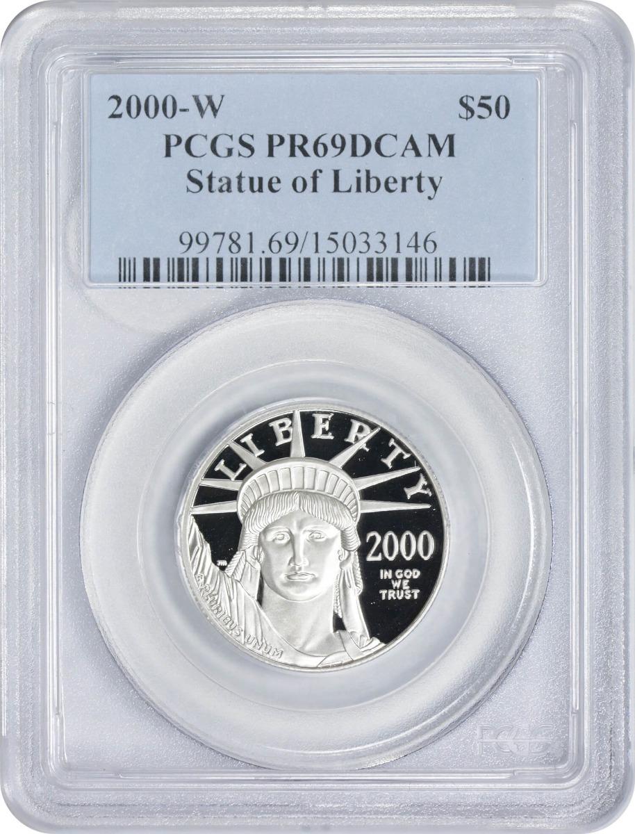2000-W $50 American Platinum Eagle PR69DCAM PCGS