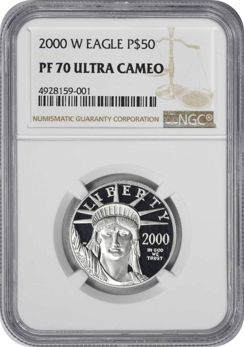 2000-W $50 American Platinum Eagle PR70UCAM NGC