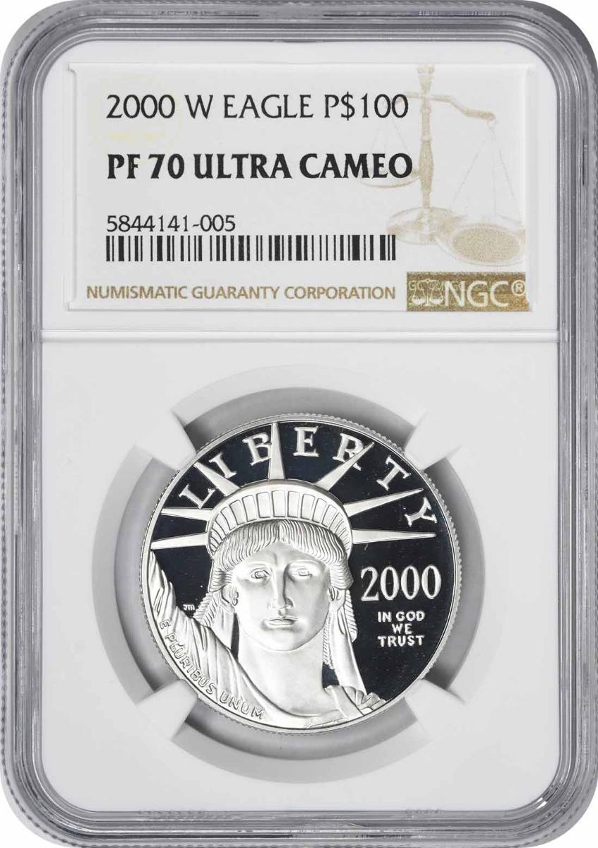 2000-W $100 American Platinum Eagle PR70UCAM NGC