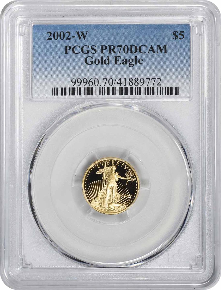 2002-W $5 American Gold Eagle PR70DCAM PCGS