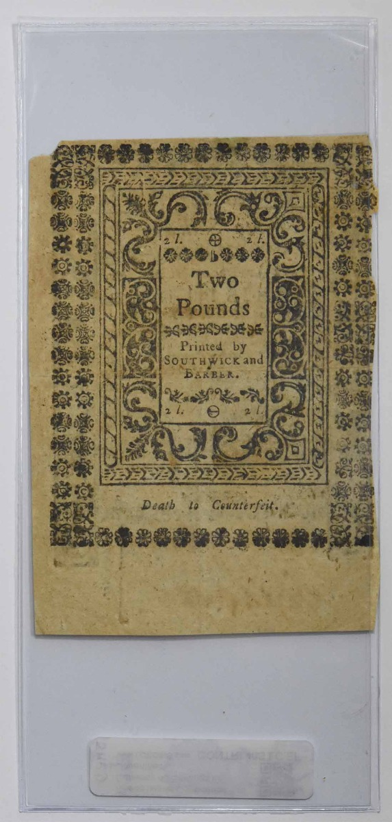 Rhode Island Continental Currency 40 Shillings 1786 EF Uncertified