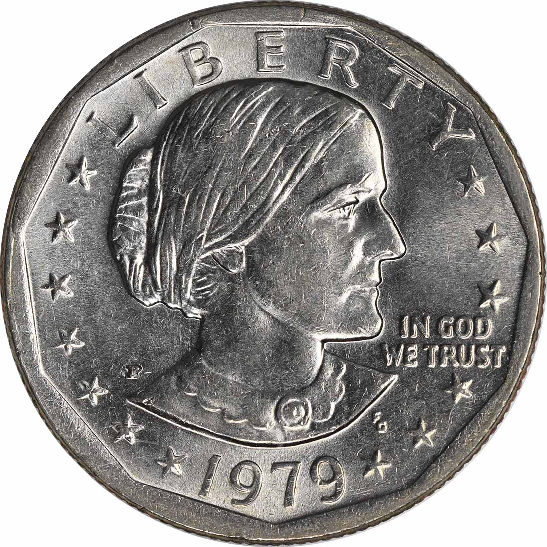 1979-P Susan B. Anthony Dollar Wide Rim MS64 Uncertified