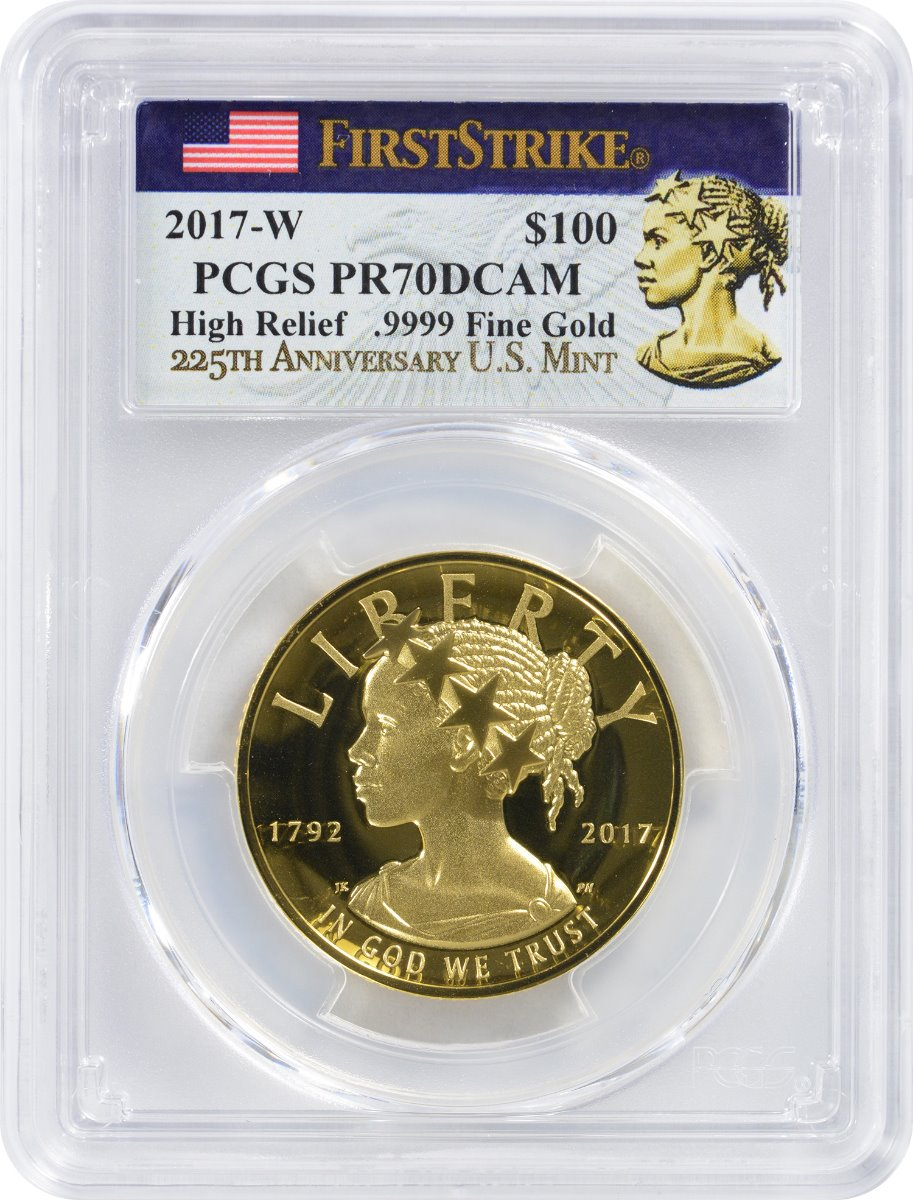 High Relief Gold Coins